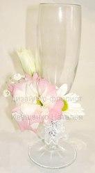 Свадебные бокалы с цветами Киев