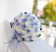 Свадебный букет из хризантем Киев
