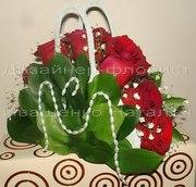 Свадебная сумка с цветами