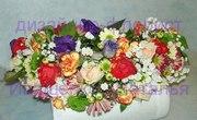 Венок из живых цветов Киев