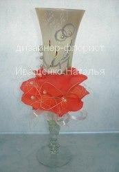 Бокалы с цветами на свадьбу